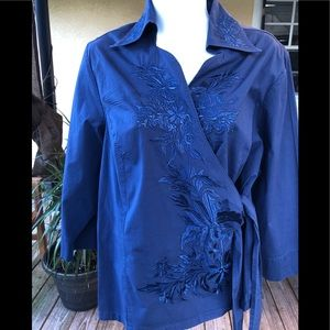 Coldwater Creek blouse size 1X beautiful wrap